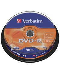 DVD-R VERBATIM 4.7GB 16X spindle (10)