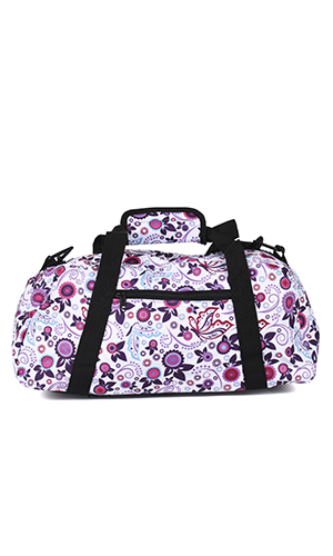 Gymbag blomster lilla