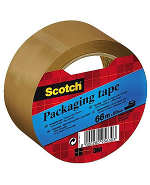 Emballasjetape SCOTCH® 50mmX66m brun