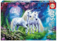 Puslespill 500 Unicorns in the Forest