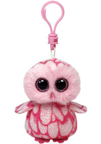 Bamse Ty Pinky pink barn owl clip