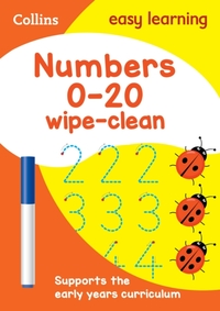 Numbers 0-20 Age 3-5 Wipe Clean Activity
