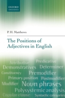 Positions of Adjectives in English