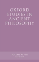 Oxford Studies in Ancient Philosophy, Vo