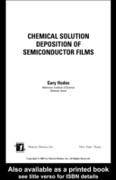 Chemical Solution Deposition Of Semicond