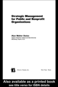 Strategic Management for Public and Nonp