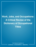 Work, Jobs, and Occupations
