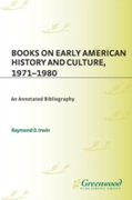 Books on Early American History and Cult