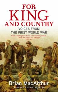 For King And Country: Voices from the First World War