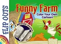 FLIP OUTS -- Funny Farm: Color Your Own