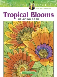 Creative Haven Tropical Blooms Coloring
