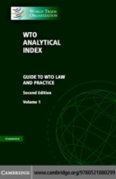 WTO Analytical Index 2 Volumes