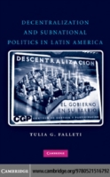 Decentralization and Subnational Politic