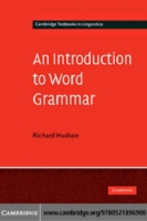 Introduction to Word Grammar
