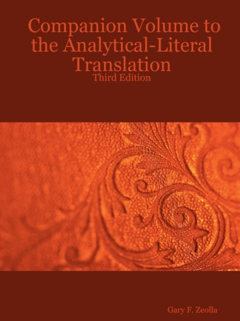 Companion Volume to the Analytical-Liter