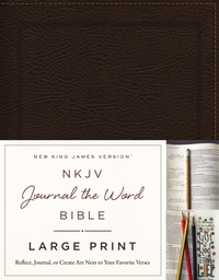 NKJV, Journal the Word Bible, Large Prin