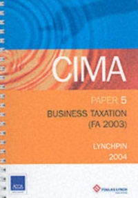 BUSINESS TAXATION FA 2003 P5