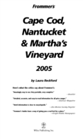 Frommer's Cape Cod, Nantucket & Mart