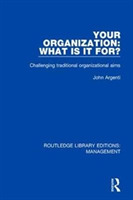 Your Organization: What Is It For?
