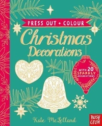 Press Out and Colour: Christmas Decorati