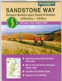 Sandstone Way Cycle Route Map - Northumb