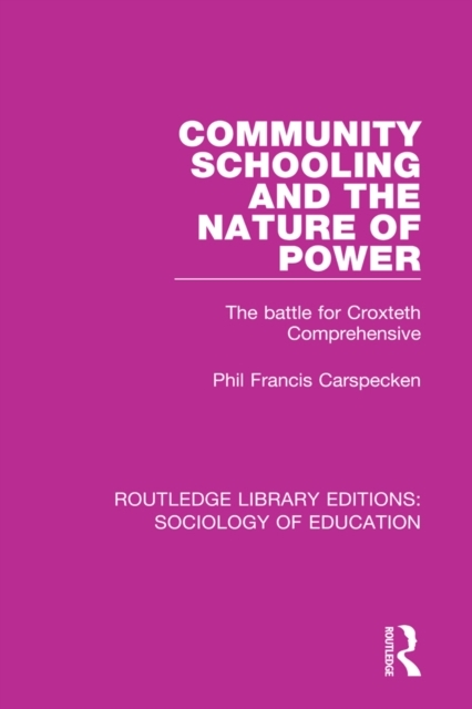 Community Schooling and the Nature of Po