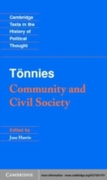 Tonnies: Community and Civil Society
