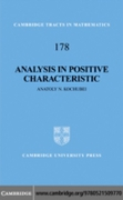 Analysis in Positive Characteristic