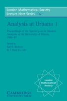 Analysis at Urbana: Volume 1, Analysis i