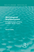 Sociological Impressionism (Routledge Re