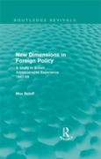 New Dimensions in Foreign Policy (Routle