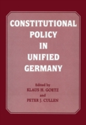 Constitutional Policy in Unified Germany