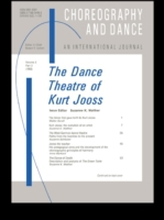 Dance Theatre of Kurt Jooss