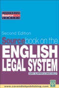Sourcebook on English Legal System