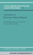 Lectures on Bochner-Riesz Means