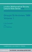 Groups St Andrews 1989: Volume 1