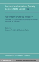 Geometric Group Theory: Volume 2
