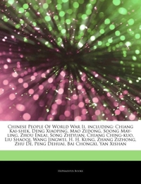 Articles on Chinese People of World War
