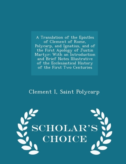 A Translation of the Epistles of Clement