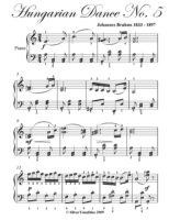 Hungarian Dance No. 5 Elementary Piano S
