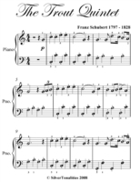 Trout Quintet Easy Piano Sheet Music