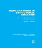 Explorations in Structural Analysis (RLE