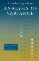 Student's Guide to Analysis of Variance