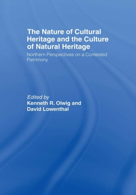 Nature of Cultural Heritage, and the Cul