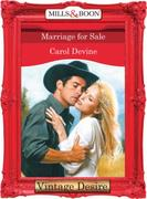 Marriage For Sale (Mills & Boon Desire)