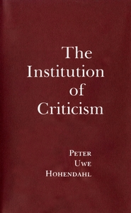 Institution of Criticism
