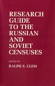 Research Guide to the Russian and Soviet