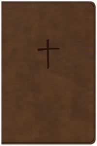 CSB Compact Bible, Brown LeatherTouch, V