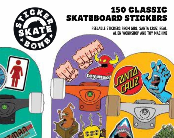 Stickerbomb Skateboard