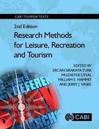 Research Methods for Leisure, Recreation
